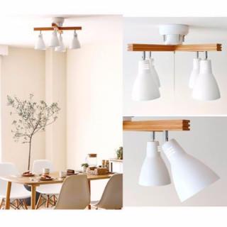4灯 シーリングライト ホワイト(天井照明)