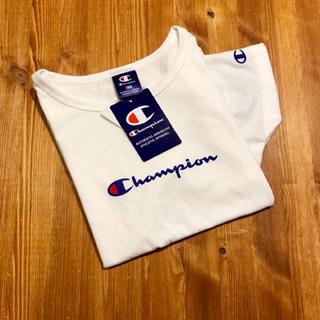 チャンピオン(Champion)の新品☆ チャンピオン 筆記体 ロゴ Tシャツ 半袖 ホワイト レディース 白(Tシャツ(半袖/袖なし))