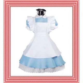 ふしぎの国のアリス メイド 風 アリス コスプレ レディース(衣装)