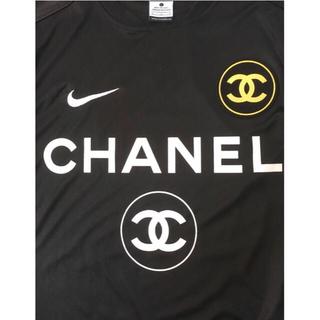 ナイキ(NIKE)の[美品]ナイキ シャネル 半袖Tシャツ ブラック NIKE CHANEL(Tシャツ/カットソー(半袖/袖なし))