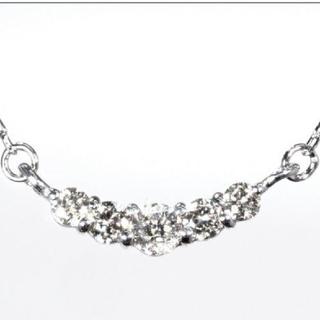 ジュエリーツツミ(JEWELRY TSUTSUMI)の新品未使用品 K18WG ダイヤモンドネックレス(ネックレス)
