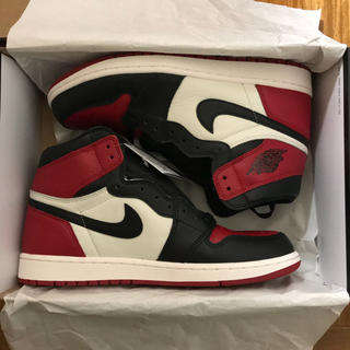 ナイキ(NIKE)のNIKE AIR JORDAN 1 RETRO BRED TOE 28cm 希少(スニーカー)