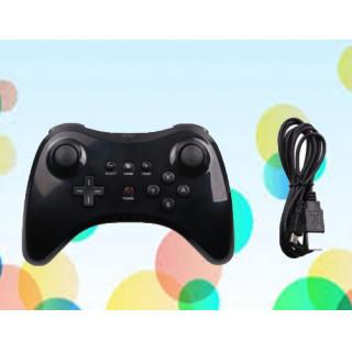 Wii U PRO コントローラー ワイヤレス 互換品 充電ケーブル付き☆黒(その他)