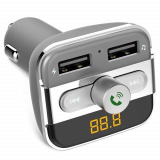 限定価格☆Bluetooth 2.1FMトランスミッター USBカーチャージャ(カーオーディオ)