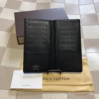 ルイヴィトン(LOUIS VUITTON)のセール   ルイ  ヴィトン   タイガ  二つ折財布 ブラック系  保管箱  (財布)