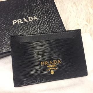 プラダ(PRADA)の新品未使用 PRADA 名刺入れ プラダ 黒 ブラック(名刺入れ/定期入れ)