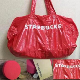 スターバックスコーヒー(Starbucks Coffee)の海外限定 スターバックス ☆ レア! 収納ケース付き エコバッグ ( ボストン)(エコバッグ)