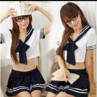 セクシーなセーラー服  2点セット ネクタイ付き コスプレ(衣装)
