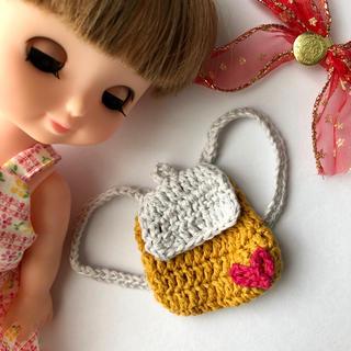 お人形さん用  シンプルハートリュック(おもちゃ/雑貨)