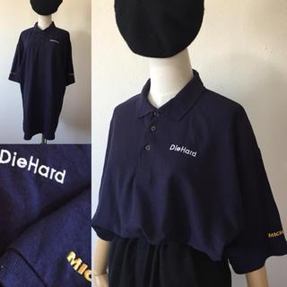 メキシコ製⭐️USA古着 刺繍 ビッグ ポロシャツ メンズXL ネイビー(ポロシャツ)