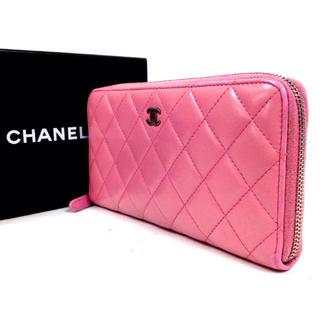 シャネル(CHANEL)の程度良❗️【シャネル】ラウンドファスナー長財布 マトラッセ 662K100208(財布)