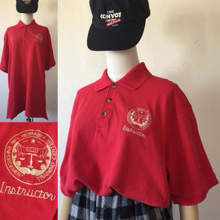 USA古着⭐️ビッグ ポロシャツ メンズL リメイク ワンポイント 刺繍(ポロシャツ)
