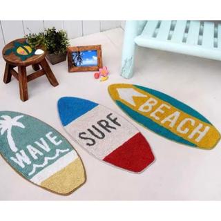 【新品】サーフボード型 マット ビーチ(玄関マット)