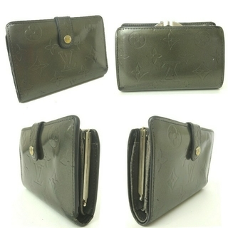 ルイヴィトン(LOUIS VUITTON)のルイヴィトン がま口 財布 モノグラム マット レザー ポルトモネ ビエ(財布)