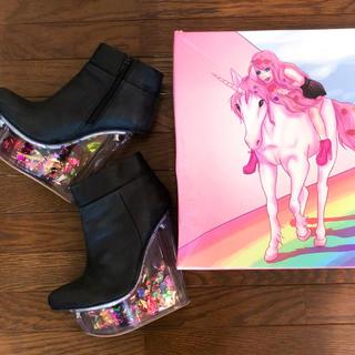 ジェフリーキャンベル(JEFFREY CAMPBELL)の日本未発売 JEFFERY CAMPBELL  デザイン厚底ブーツ(ブーツ)