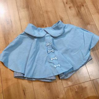 シマムラ(しまむら)の バースディ♡⃝デニム風リボンスカート130(スカート)