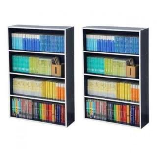 本の収納に 本棚2個セット (組み立て式) ネイビー(本収納)