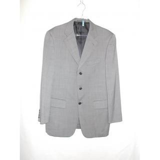 五大陸 メンズ グレンチェック スーツ ブラック(セットアップ)