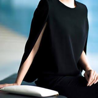 ドゥーズィエムクラス(DEUXIEME CLASSE)の【rumi様専用】☆美品☆ケープ袖 ブラウス ブラック(シャツ/ブラウス(半袖/袖なし))