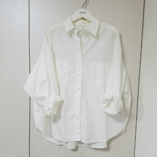MUJI (無印良品) - 新品!無印 ドルマン袖 シャツ ホワイト S