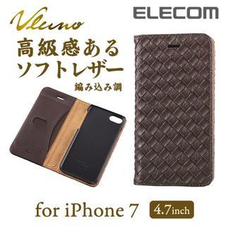 エレコム(ELECOM)のiPhone7/8 ソフトカバー 編み込み調 PM-A16MPLFMBR  (iPhoneケース)