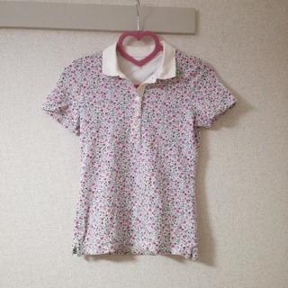 ユニクロ(UNIQLO)のUNIQLO★花柄のポロシャツ(ポロシャツ)