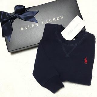 Ralph Lauren - 人気アイテム☆新品✨裏起毛 スウェットシャツ / ネイビー 12M/80