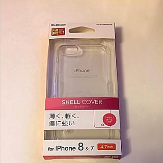 エレコム(ELECOM)の新品未開封品!iPhone8&7   SHELL COVER(iPhoneケース)