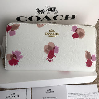 コーチ(COACH)のコーチ 長財布 COACH ラウンドファスナー フローラル(財布)