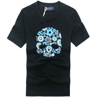 ハイドロゲン(HYDROGEN)の★正規品(7DT7316BL)ハイドロゲン メンズ半袖Tシャツ【XL】(Tシャツ/カットソー(半袖/袖なし))