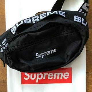 シュプリーム(Supreme)の supreme waist bag シュプリーム ウエストバッグ 18ss 黒(ウエストポーチ)