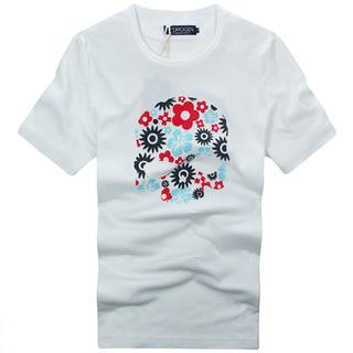 ハイドロゲン(HYDROGEN)の★正規品(7DT7316WH)ハイドロゲン メンズ半袖Tシャツ【XL】(Tシャツ/カットソー(半袖/袖なし))