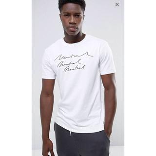 マンゴ(MANGO)のマンゴー ホワイト ロゴ T シャツ(Tシャツ/カットソー(半袖/袖なし))