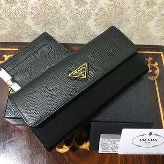 プラダ(PRADA)の新品正規品プラダPRADAナイロン長財布1MH037 黒(財布)