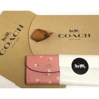 コーチ(COACH)の正規品♡新品未使用 ピンク COACH 花柄 フラワー  キーケース 6連フック(キーケース)