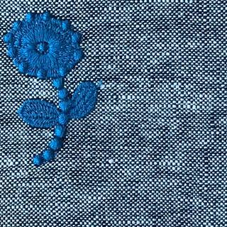 ミナペルホネン(mina perhonen)のミナペルホネン bonheur ファブリック ブルー はぎれ(生地/糸)