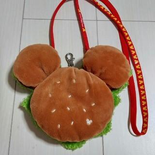 ディズニー(Disney)のハンバーガー ミッキー パスケース(キャラクターグッズ)