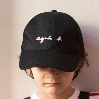 アニエスベー(agnes b.)の新品未使用 アニエスベー  キャップ キッズ用 女性 黒 人気(帽子)