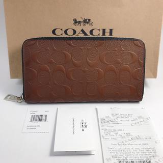 コーチ(COACH)のCOACH コーチ シグネチャーSaddle  長財布 新品/CM(長財布)