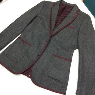 フレッドペリー(FRED PERRY)のフレッドペリー テーラードジャケット ワインレッド グレー(テーラードジャケット)