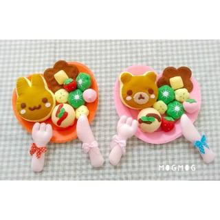 【受注作製】♡フェルト アニマルパンケーキセット♡(おもちゃ/雑貨)