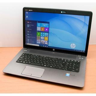 ヒューレットパッカード(HP)の17インチ大画面 hp ProBook 470 G2 SSD Office 美品(ノートPC)