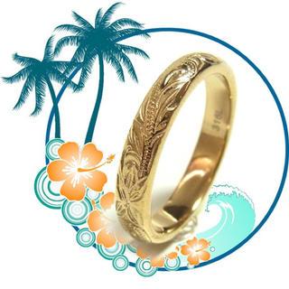 ハワイアンジュエリー 🌺ステンレスリング 3.6mm幅 プルメリア(リング(指輪))