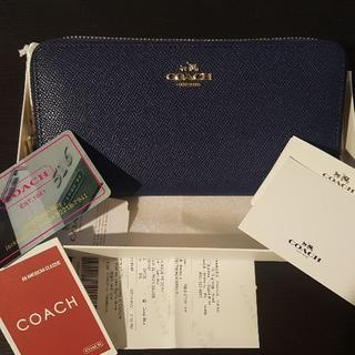 コーチ(COACH)の【新品】COACH 長財布 ミッドナイト ネイビー(財布)
