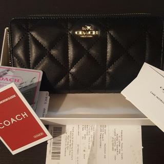 コーチ(COACH)の【新品】COACH 長財布 ラウンドジップ ブラック(財布)
