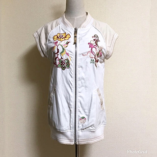 ディーゼル(DIESEL)のDIESEL ディーゼル スカジャン 袖なし ベスト フラワー刺繍 サイズM(スカジャン)