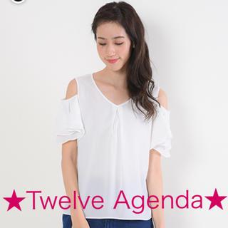 トゥエルブアジェンダ(12Twelve Agenda)のトゥエルブアジェンダ2wayフリルトップス*Vネックブラウスアプワイザーリッシェ(シャツ/ブラウス(半袖/袖なし))