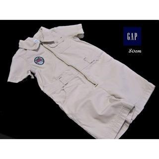 ベビーギャップ(babyGAP)の■GAP/ギャップ■ ベビー 80cm チノ素材のオールインワン (カバーオール)