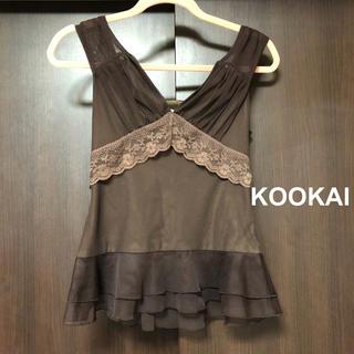 クーカイ(KOOKAI)の【KOOKAI】レース トップス(Tシャツ(半袖/袖なし))