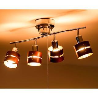 シーリングライト LED対応 スポットライト 4灯 天井 照明器具 リビング(天井照明)